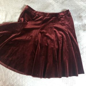 Urban Outfitters Skirts - Urban Outfitters red velvet skirt